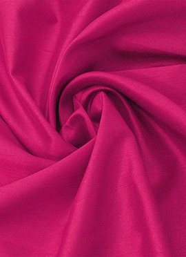 Hot Pink Taffeta Silk Fabric