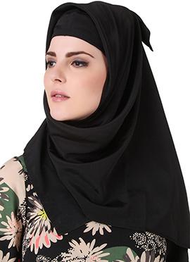 Humaydah Black Crepe Hijab