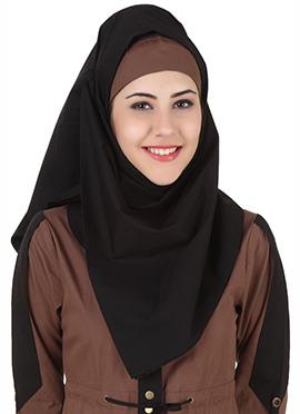 Husniya Black Cotton Hijab