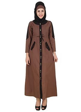 Husniya Brown Cotton Jilbab