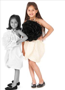 Ideal Cream Satin Kidology Indowestern Dress
