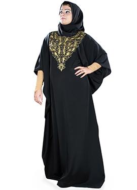 Iffah Black Crepe Fustan