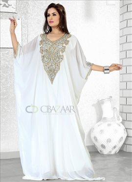 Immaculate Off White Georgette Fustan