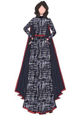 Indigo Abaya Suit