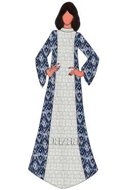 Indigo Cotton Fustan Suit