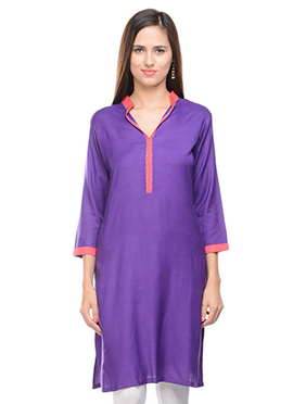 Lingra Purple Kurta