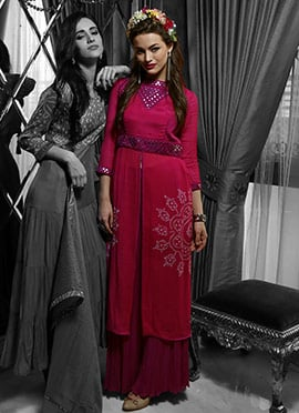 Iraz Magenta Mirror Enhanced Tunics