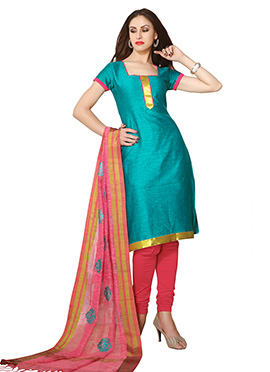 Jade Green Cotton Churidar Suit