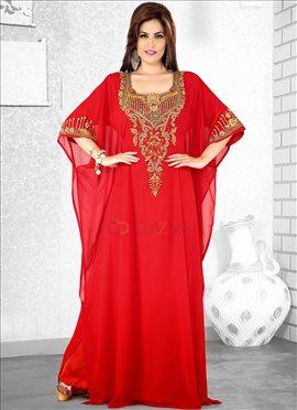 Jazzy Red Farasha Fustan