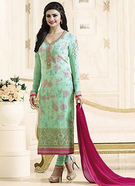 Prachi Desai Mint Green Straight Suit