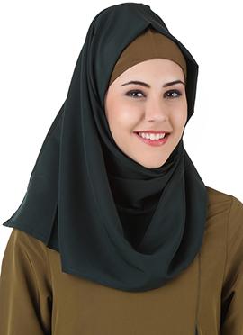 Jihan Dark Green Polyester Hijab