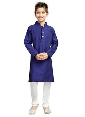 k And U Blue Kurta Pyjama
