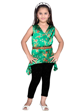 K And U Green Kids Tops