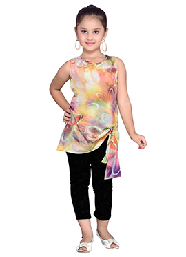 K And U Multicolored Kids Tops