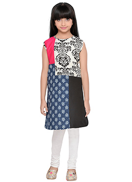 K And U presents Kids Multicolored Dress