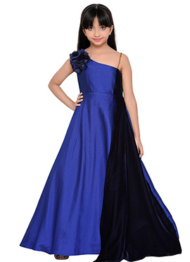 K And U presents Kids One Shoulder Gown