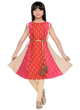 K And U presents Multicolored Kids Dress