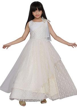 K And U presents Off White Kids Anarkali Gown