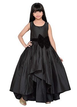 K And U presents Taffeta Kids Anarkali Gown