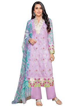 Karishma Kapoor Lavender Pakistani Lawn Suit