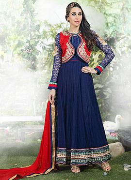 Karisma Kapoor Jacket Style Anarkali Suit