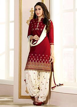 Karisma Kapoor Maroon Salwar Suit