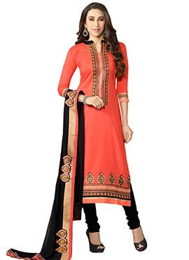 Karisma Kapoor Peach Straight Suit