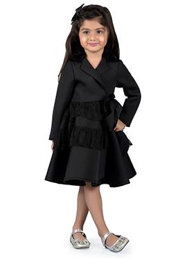 Kidology Black Neoprene Kids Dress