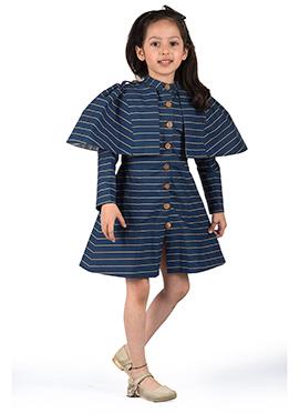Kidology Blue Taffeta Kids Dress