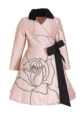 Kidology Blush Pink Taffeta Kids Wrap Dress