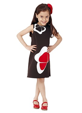 Kidology Brown Pansy Dress