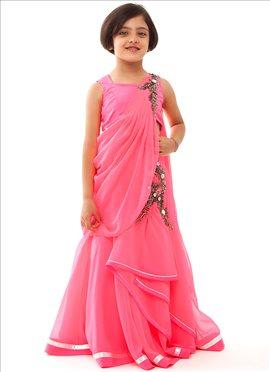 Kidology Gaurav Gupta Pink Gown