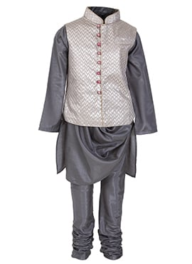 Kidology Grey Brocade Kids Bandi Set