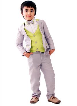 Kidology Grey Linen Boys Suit