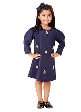 Kidology Navy Blue Tiffany All Over Dress