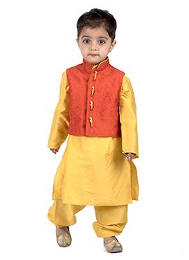 Kidology Orange N Yellow Kids Bandi Set
