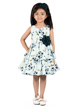 Kidology Pale Blue Cotton Kids Dress