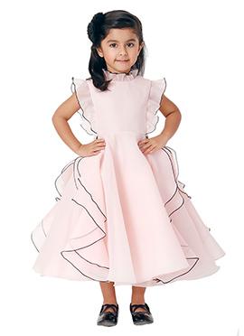 Kidology Pale Pink Ariel High Collar Dress
