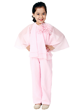 Kidology Pale Pink Butterfly Jump Suit