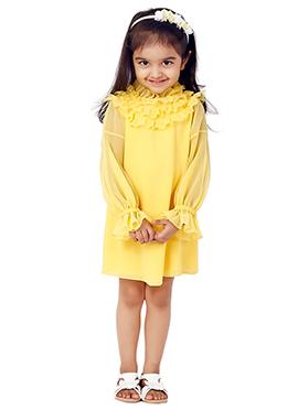 Kidology Pale Yellow Audley Dress