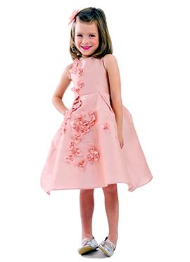 Kidology Peach Bougenvilla Fall Dress