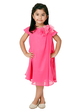 Kidology Pink Butterfly Shoulder Dress