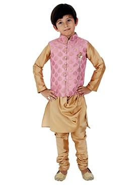 Kidology Pink N Golden Kids Bandi Set