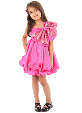 Kidology Pink Pure Georgette Dress