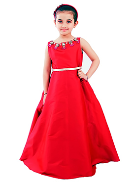 Kidology Red Tiffany Crystal Gown