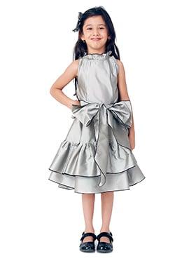 Kidology Silver Fairytale Trapezze Dress