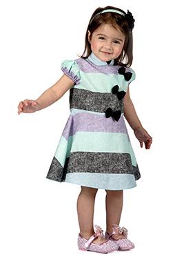 Kidology Tricolor Cotton Kids Dress