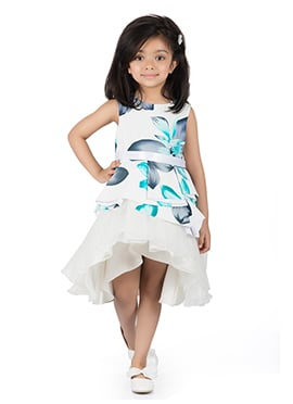Kidology White Cotton Kids Dress