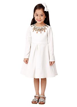 Kidology White Tiffany Fit N Flare Dress