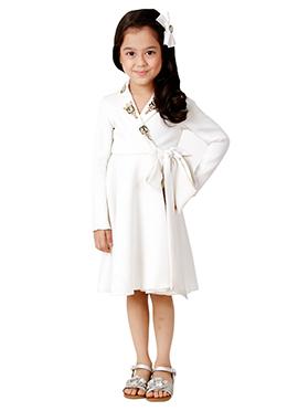 Kidology White Tiffany Wrap Dress